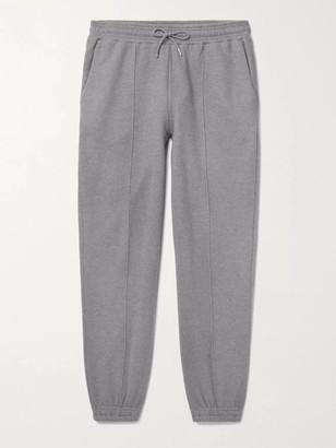 Ninety Percent Melange Loopback Organic Cotton-Jersey Sweatpants - Men - Gray