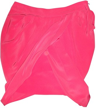 Maje Pink Silk Skirt for Women