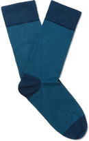John Smedley - Hera Striped Sea Island Cotton-blend Socks