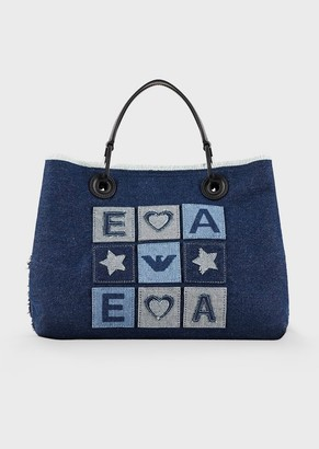 Emporio Armani Myea Bag Shopper In Denim