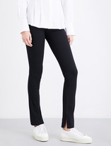 Theory High-waisted cotton-blend leggings