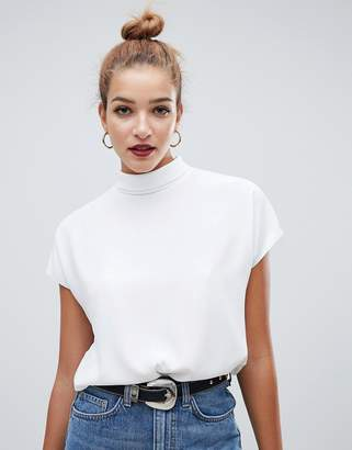 Asos Design DESIGN short sleeve high neck top