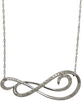Lord & Taylor 14K White Gold Diamond Scroll Necklace