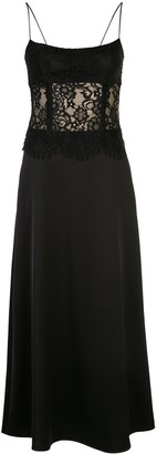 Rasario fitted scalloped lace dress