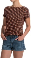 Workshop Republic Clothing Boat Neck Shirt - Short Sleeve (For Women)