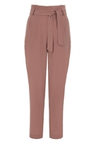 Quiz Terracotta High Waist Tapered Trousers