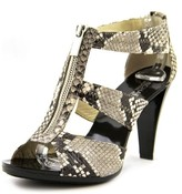 MICHAEL Michael Kors Berkley T Strap Women US 8.5 Gray Sandals