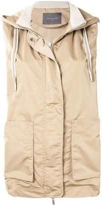 Lorena Antoniazzi Zip-Up Hooded Waistcoat