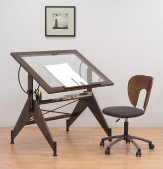 Studio Designs Aries Height Adjustable Drafting Table Color: Dark Walnut/Black
