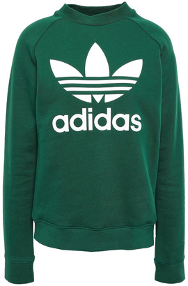adidas Trefoil Printed French Cotton-terry Sweatshirt