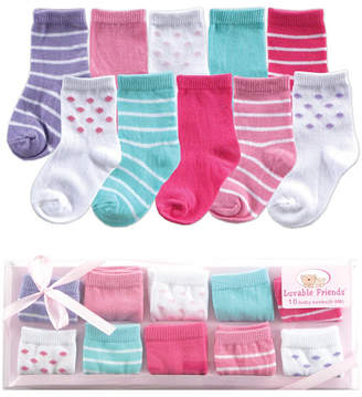 Luvable Friends Socks Gift Set, 10-Pack, 0-9 Months