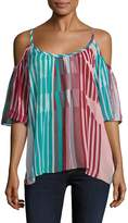 Plenty by Tracy Reese Women's Cold Shoulder Peasant Top