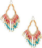 Nakamol Multihued Beaded Fringe Drop Earrings, Red