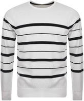 Henri Lloyd Keal Stripe Knit Jumper White