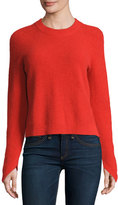 Rag & Bone Valentina Ribbed Cashmere Sweater, Fiery Red