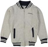 Eddie Bauer Heather Gray Stripe-Trim Varsity Jacket - Boys