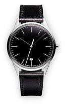 Uniform Wares C36 Quartz Watch with Black Analogue Dial with Black Leather Strap