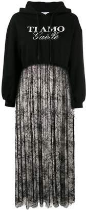 Gaelle Bonheur lace contrast sweatshirt