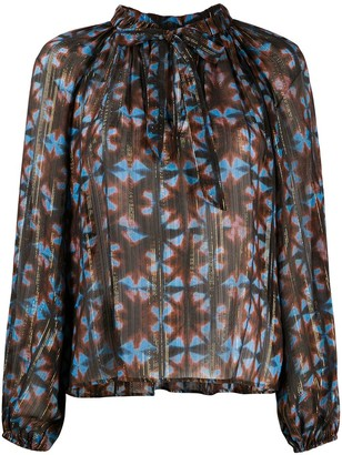 Ulla Johnson Luna tie-dye silk blouse