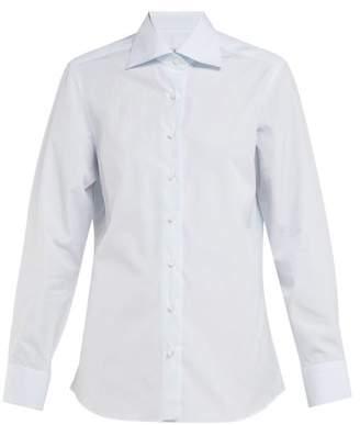 Giuliva Heritage Collection The Elvira Cotton-poplin Shirt - Womens - Blue
