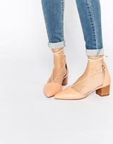 Asos OREGON Lace Up Pointed Heels