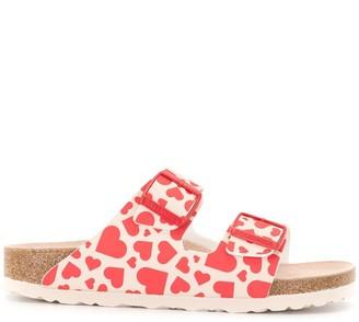 Birkenstock Arizona heart-print sandals