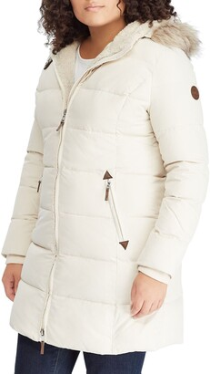Lauren Ralph Lauren Quilted Down & Feather Fill Parka with Faux Fur Trim