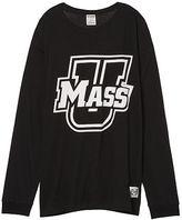 PINK University Of Massachusetts Long Sleeve Campus Tee