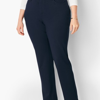 Talbots Plus Size High-Rise Straight-Leg Pants - Curvy Fit - Ponte