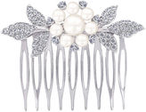 FINE JEWELRY DiamonArt Sterling Silver Freshwater Pearl Flower Hair Comb