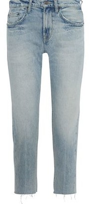 Current/Elliott The His Cropped Distressed Boyfriend Jeans