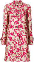 Valentino flower jacquard coat