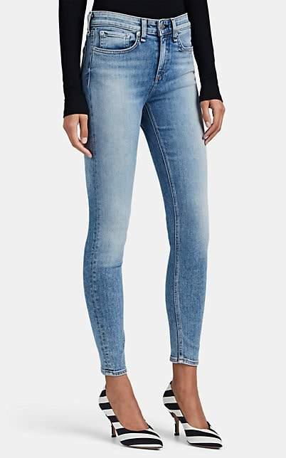 Rag & Bone Women's Cate Mid-Rise Ankle Skinny Jeans - Blue