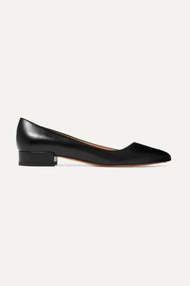 Francesco Russo Leather Ballet Flats - Black