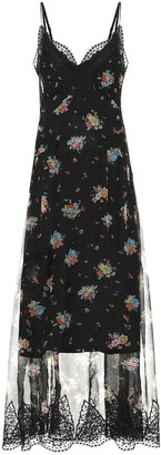 Paco Rabanne Floral silk maxi dress