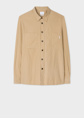 Paul Smith Men's Tan Classic-Fit Seersucker Shirt