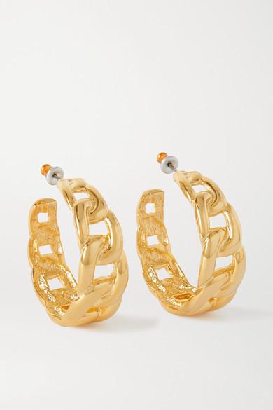 Kenneth Jay Lane Gold-tone Hoop Earrings - one size