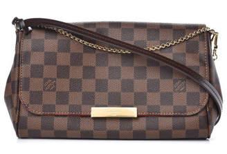 Louis Vuitton Favorite Damier Ebene MM Red Lining