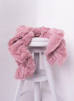 Missy Empire Alina Dusty Pink Twisted Fluffy Scarf