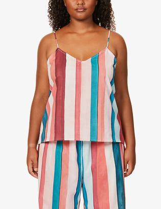 Desmond & Dempsey Medina striped organic-cotton camisole