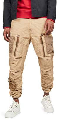 G Star Raw Arris Straight Tapered Cotton Canvas Cargo Pants