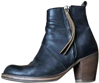 Acne Studios Pistol Blue Leather Ankle boots