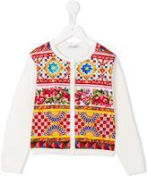Dolce & Gabbana 'Carretto Con Rose' cardigan - kids - Cotton - 8 yrs