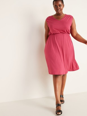 Old Navy Waist-Defined Sleeveless Plus-Size Dress