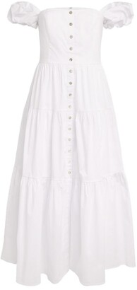 STAUD Elio Tiered Midi Dress
