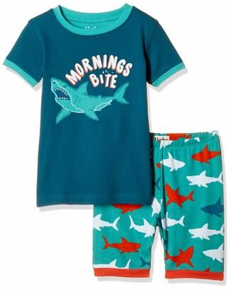 Hatley Boy's Organic Cotton Short Sleeve Applique Pyjama Sets