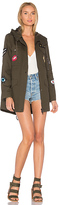 Jocelyn Cargo Coat With Exclusive Patches in Army. - size S (also in XS)
