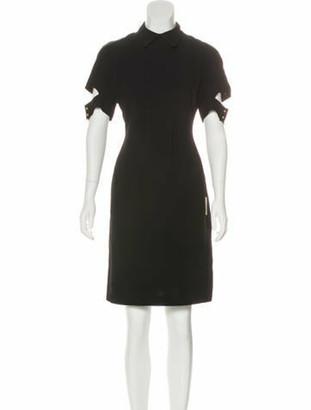 Victoria Beckham Short Sleeve Mini Dress Black