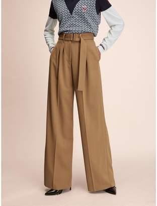 Tommy Hilfiger Wide Leg Wool Trouser