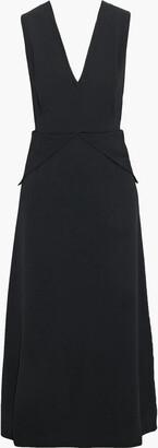 Victoria Beckham Cutout Crepe Midi Dress